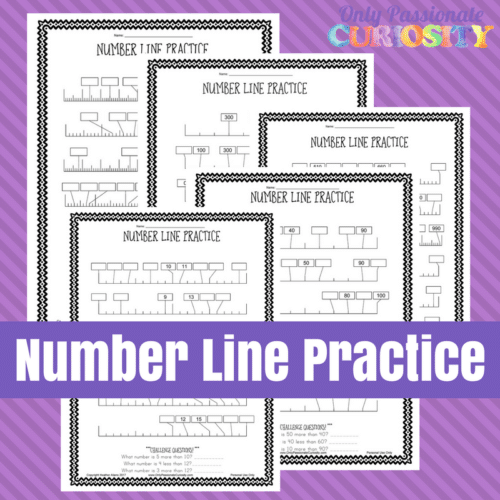 picture regarding Number Lines Printable titled Amount Line Printable Worksheets - Just Pionate Fascination