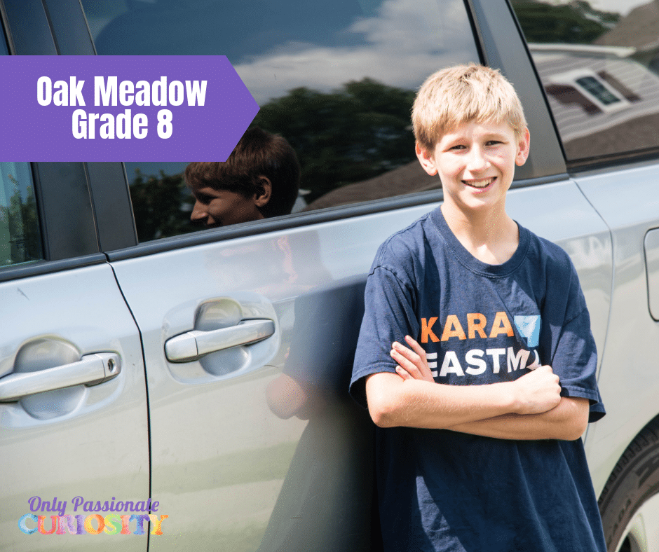 Oak Meadow Grade Eight {Review} - Only Passionate Curiosity