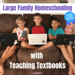 Large Family Homeschooling with Teaching Textbooks