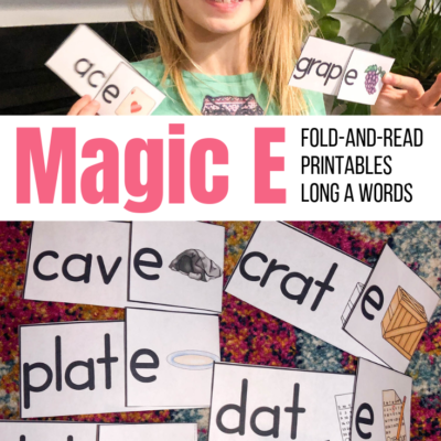 Magic E Fold and Read: Long A