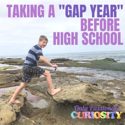 "Taking a ""gap year"" before high school"