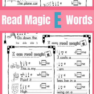 Printable Magic E – Long I Sound Worksheets