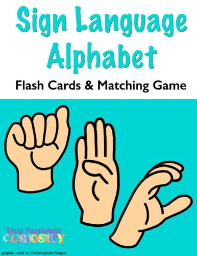graphic relating to Sign Language Alphabet Printable Flash Cards called American Indication Language-Flash Playing cards and Matching Activity - Simply just