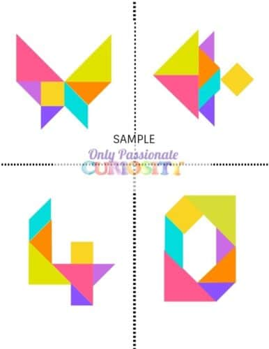 image about Printable Tangrams referred to as Tangrams - Basically Pionate Desire