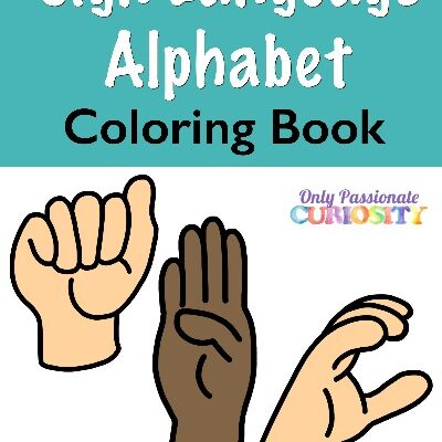 American Sign Language Alphabet Coloring Book