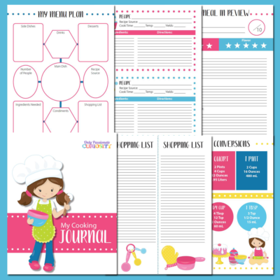 Cooking Journals for Boys and Girls
