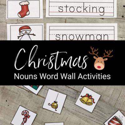 Christmas Nouns Word Wall