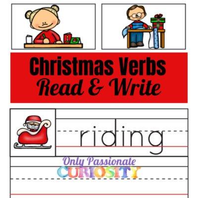 Christmas Verbs Word Wall