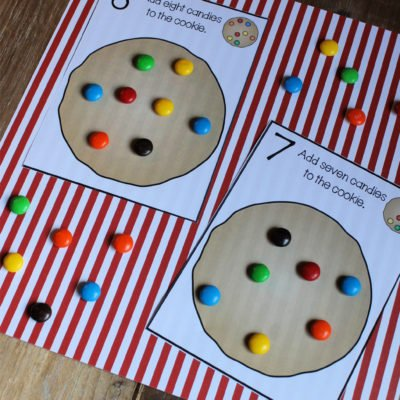 Counting Candies on Cookies Math Cards
